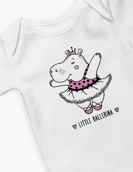 Ballerina Hippo Long Sleeve