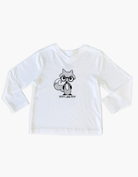 White Fox Long Sleeve T-Shirt