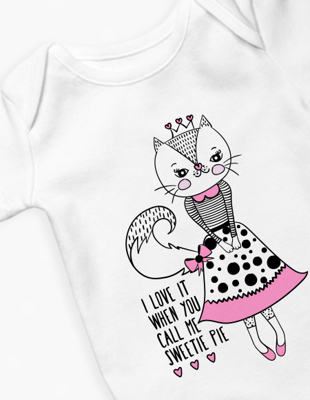 Girl Kitty Long Sleeve